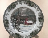 Johnson Brothers England, The Friendly Village, The School House, Dinner Plate The Friendly Village, The School House by JOHNSON BROTHERS