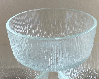 Crystal Ice pattern 5 Fruit Bowl by Indiana Glass Company ~ Vintage 1980/'s