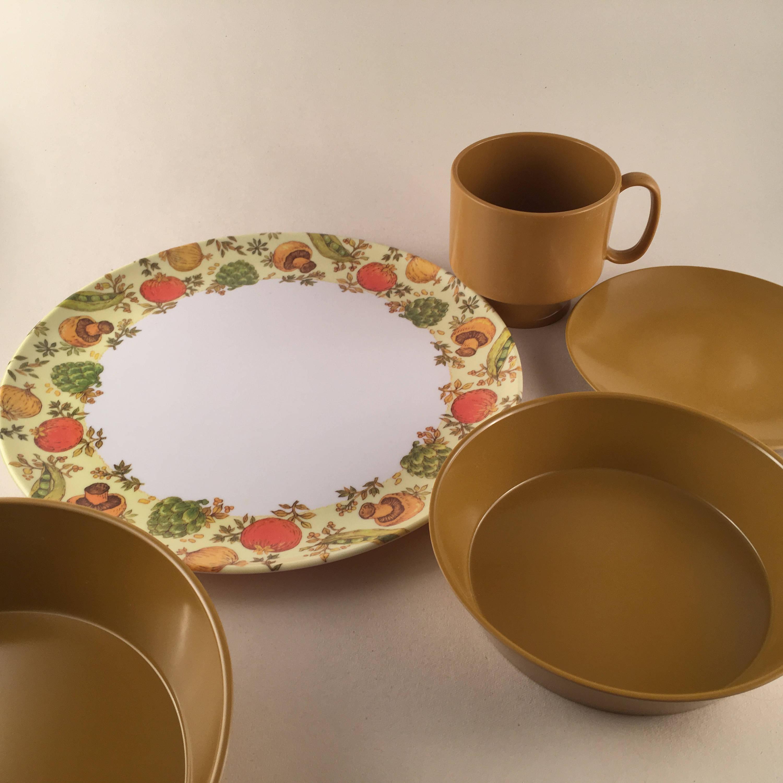 Vintage Melmac Dinnerware Service for 8/ Vintage Kitchen | Etsy
