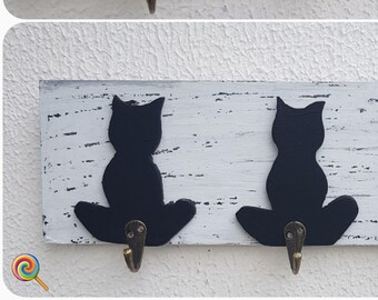 Wooden Hand Painted Key Hanger - A007