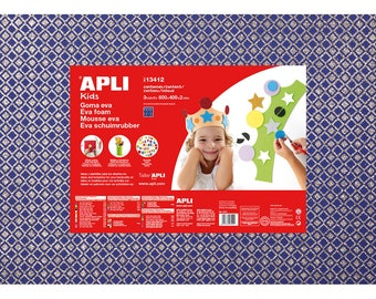 Paper foam EVA 2 mm blue printed colourful 40 cm x 60 cm - Ref 13419 (sold separately) - while stock last!