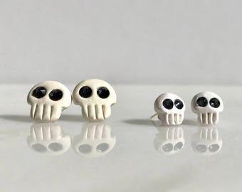 Skull Earrings, halloween earrings, sugar skulls