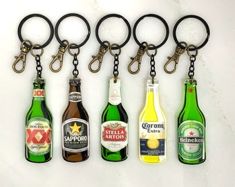Heineken beer keychain keyring bottle opener can mug drink miniature collectable