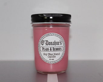 Pears and Berries 6 oz Soy Blend Candle