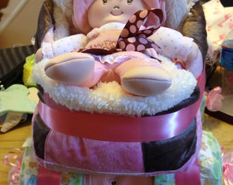 Carriage Diaper Cake