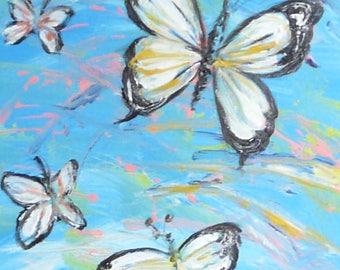 Peinture Acrylique Sur Toile Etsy