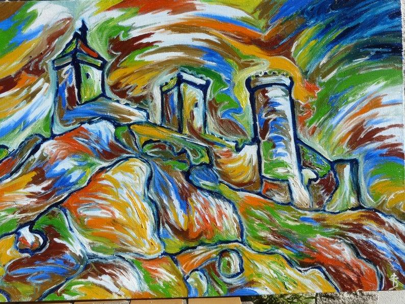 Moderne abstracte schilderkunst hedendaagse kunst decoratie etsy