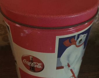 1994 coke tin with lid