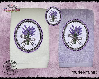 towel toilet murielm, lavender, Provence, linens, provencal crafts, French, handmade, Provence shop.