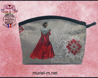 Kit murielm arlésienne red made in France, Provence, leather, luggage, Camargue, craft, handmade, french touch