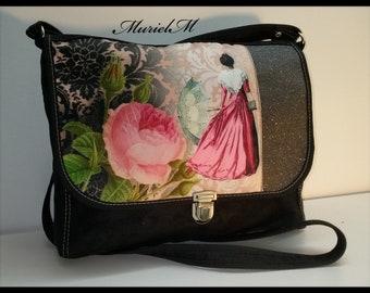 Designer MurielM Arlésienne bag. Messenger bag, leather, luggage, Camargue, Provence, Provencal craft, boutique murielm graveson, bag