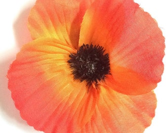 Vera - Single poppy hair flower
