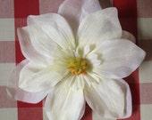 Grace - Large cream hair flower