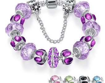 Beautiful very nice bracelet made with these European beads 20 cm