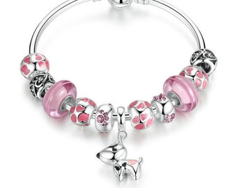 Beautiful very nice bracelet made with these European beads
