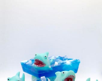 Shark Soap/Children soap, Kids Soap, Toy soap, Mild Soap, Squirt Toy, Birthday Party Favor, Boy soap, Girl Soap, Bath toys, Child