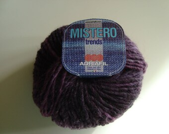 Wool ball Adriafil Mistero needles 7 - purple - wool and acrylic