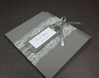 Wedding Invitation, Invitation Card, Invitation with Lace, Invitation
