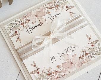 Wedding Invitation, Invitation Card, Invitation, Wedding Invitation, Watercolor, Invitation with Flowers
