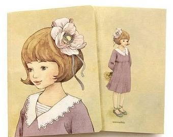 Adorable little girl romantic intimate Journal