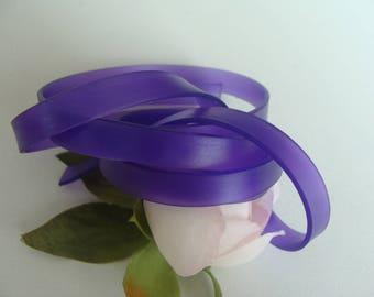Cordon lanière sangle ceinture violet transparent 1 mètre plat 8mm largeur  silicone 6047703279a