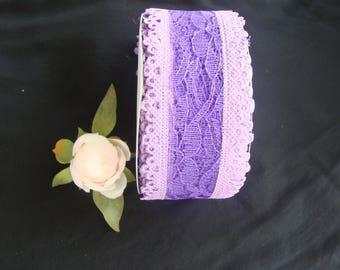 Parma violet 4.8 centimeters polyester Ribbon lace