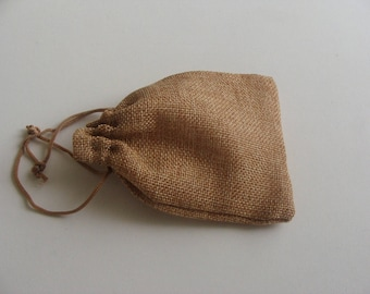 1 lot of 74 packaging gift jewelry pouch 13 * 9.5 cm Brown burlap