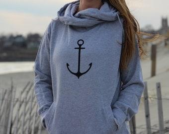 Anchor Ladies Zip Up Hoodie