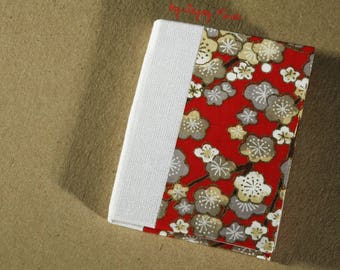 Mini notebook red vintage floral pattern