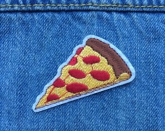 Embroidered Iron on Pizza Patch//FREE US SHIPPING