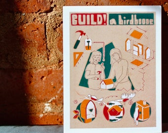Build! A Birdhouse - Set of Postcards - DIY Ethic - Children's ABCs Book