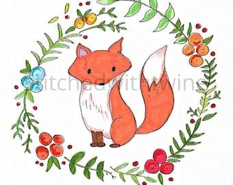 Autumn fox print