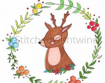 Autumn deer print