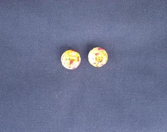 2 yellow acrylic beads 18 x 10 mm