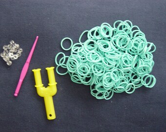 Recharge 250 + S + 1 + 1 medium hook clasps 10 turquoise elastic Y