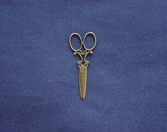 Bronze 1 large charm pair of scissors