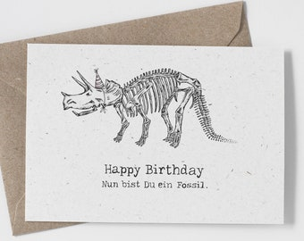 Birthday Card dinosaur Greeting Card Anniversary