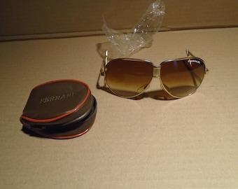 c378c1342186c Vintage Ferrari Folding Amber sunglasses NOS