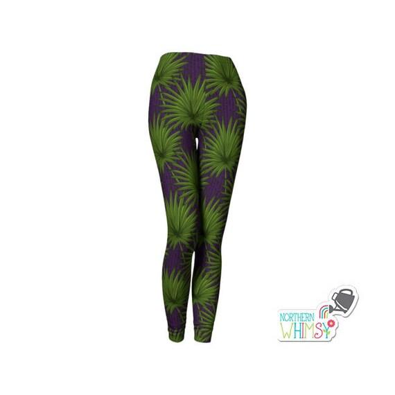 Polainas de hojas de Palma pantalones de mujer con Palma | Etsy