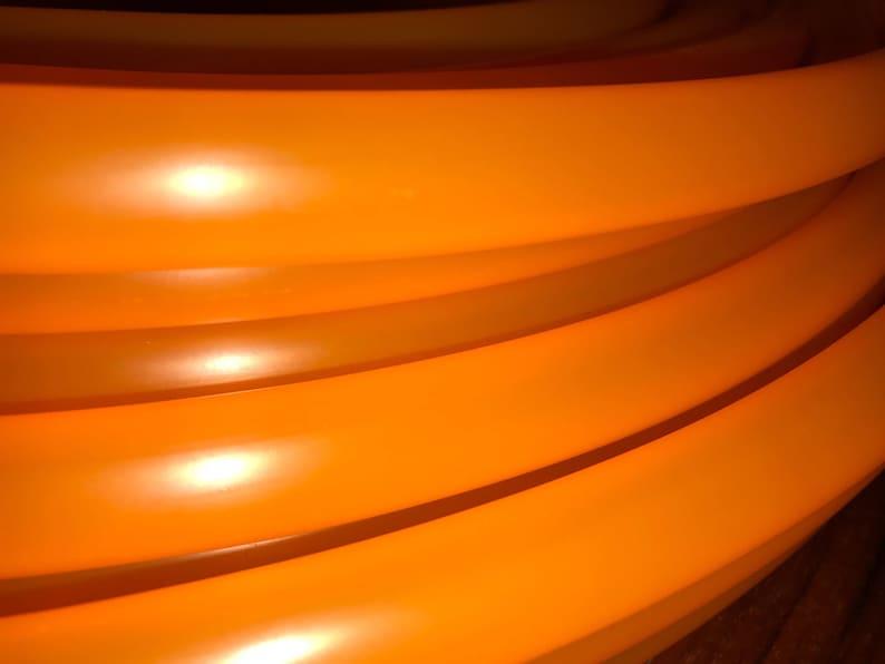 UV Neon Orange Polypro Hula Hoop