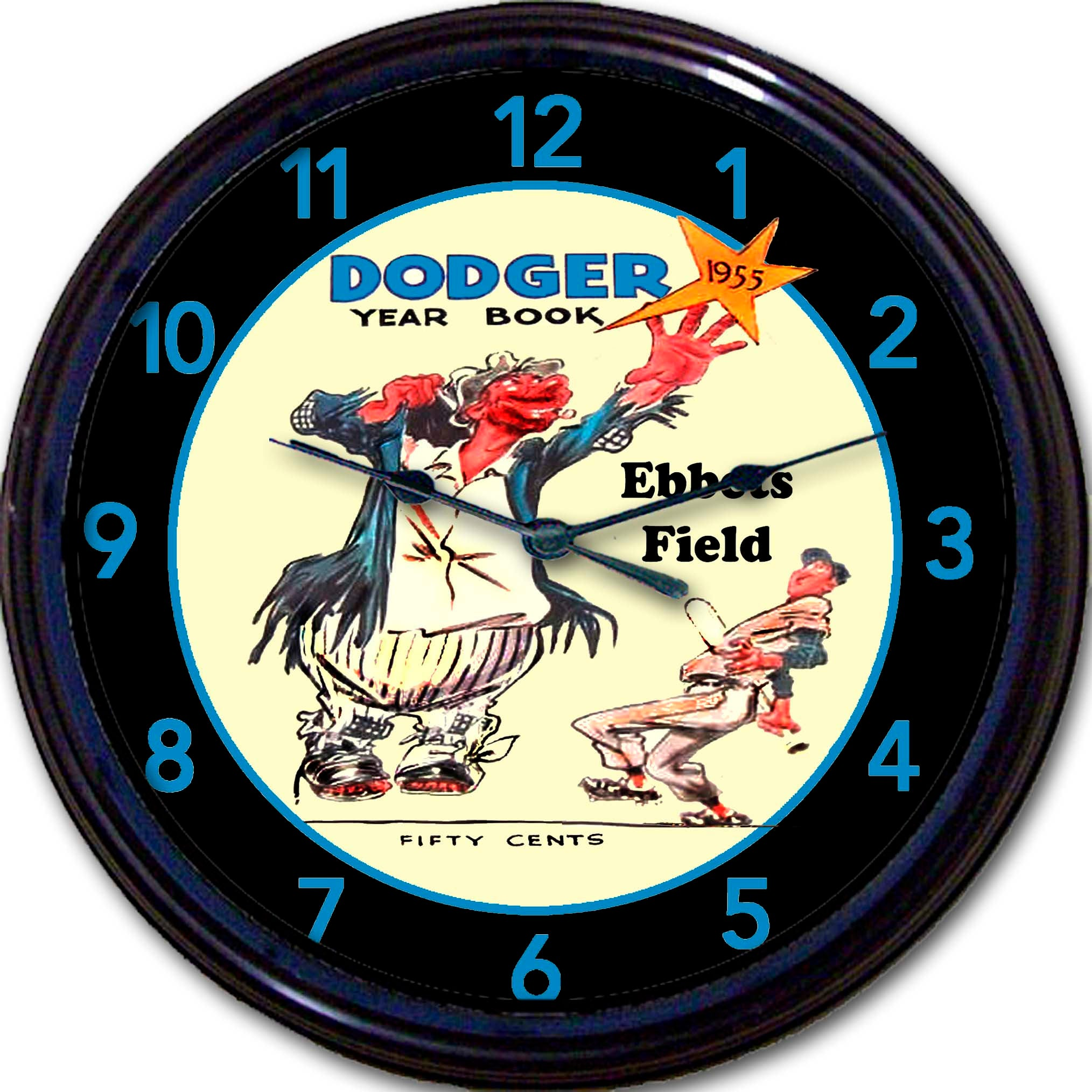 Brooklyn Dodgers Ebbets Field 1955 World Series Wall Clock