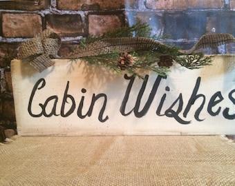 Cabin  country sign, burlap designs, woodland decor, prim cabin sign, rustic decor