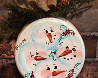 Vintage painted enameled pan