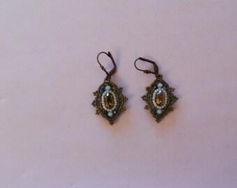 Antique Peacock earrings