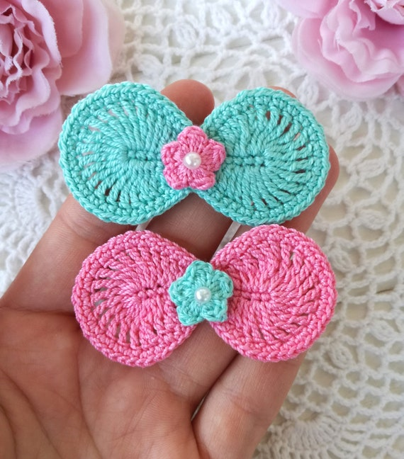 Crochet Bow Pattern Etsy