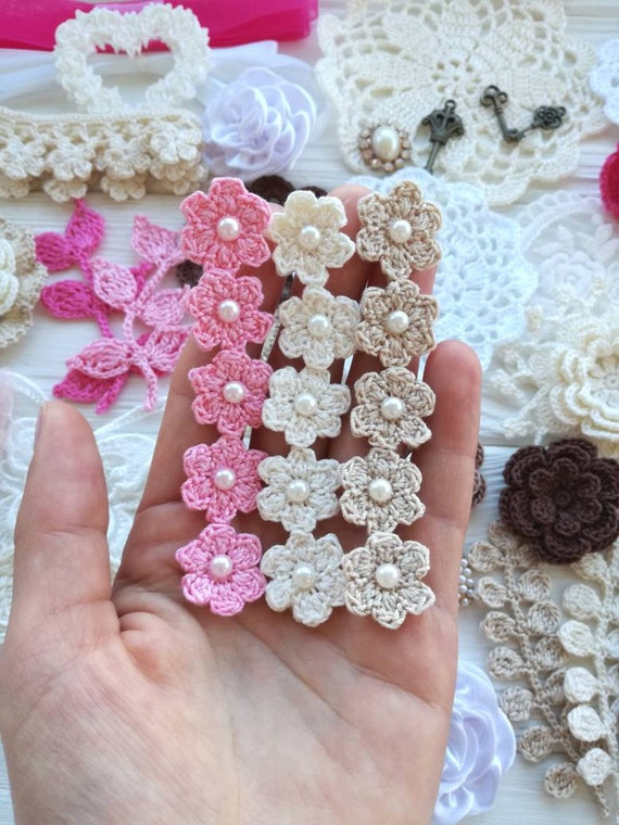 Crochet Pattern Crochet Small Flowers Crochet Flower Trim Etsy