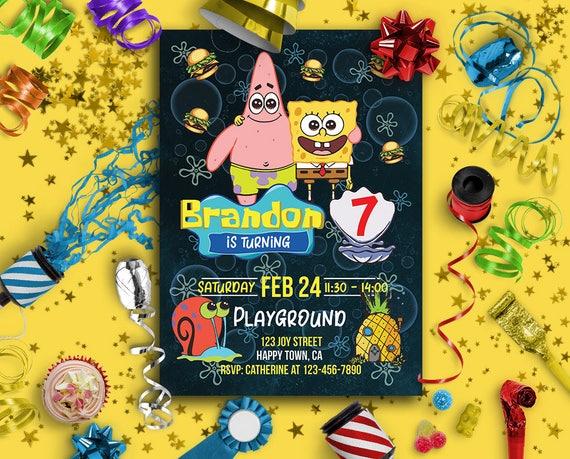 Spongebob Birthday Invitations Ideas Bagvania