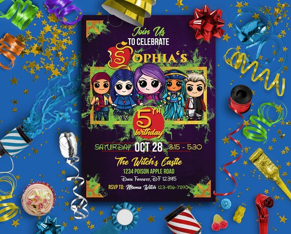 Descendant Invitations Descendants 2 Birthday
