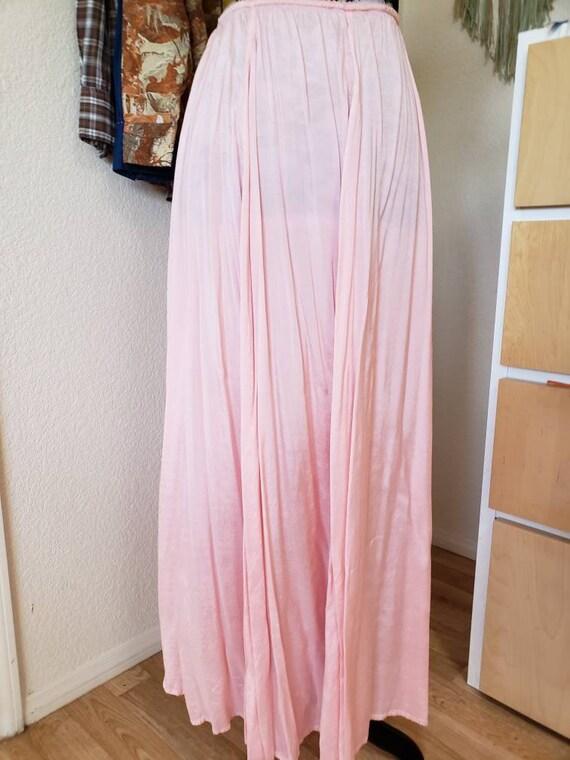 Lightweight pink maxi skirt