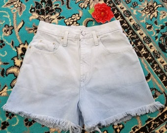 Ombre high waisted cutoff  shorts